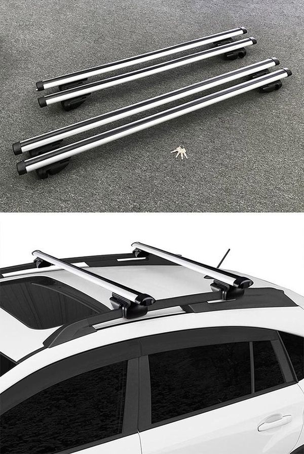 """New 2 Sizes: (48"""" for $35), (55"""" for $40) Universal Car Cross Bar Top Luggage Roof Rack Cargo Carrier"""