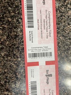 2 Six Flags Any Day Tickets for Sale in Houston,  TX