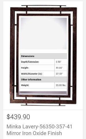 Minka Lavery wall mirror solid iron for Sale in Bloomfield Hills, MI
