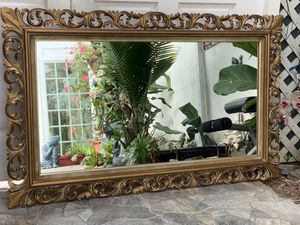 """Antique 48""""x32"""" gold color, hand carved. This mirror is absolutely gorgeous and Characteristic for Sale in Laguna Niguel, CA"""