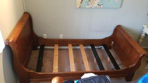 Wood Twin frame bed for Sale in Upland, CA