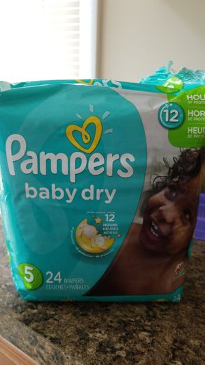 *20 5monthold pampers baby dry diapers for Sale in Dagsboro, DE
