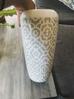 Porcelain white and grey vase for Sale in Washington, DC