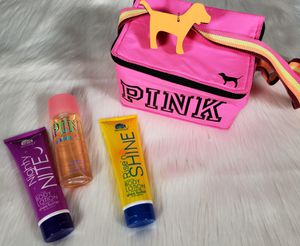 Victoria's Secret Pink Bag and lotions/fragrance set for Sale in Fairview Park, OH