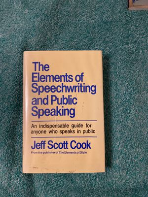 The Elements of Speechwriting and Public Speaking by Cook for Sale in Ithaca, NY