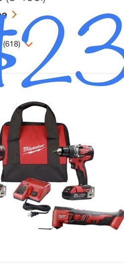 Milwaulkee M18 18- Volt Lithium Ion Brushless Cordless Compact Drill/impact/oscillating Multi-Tool Combo kit (3 Tool) for Sale in Silver Spring,  MD
