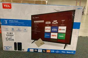 "Brand New TCL ROKU 32"" Smart Tv! Open box w/ warranty I09 for Sale in Dallas, TX"