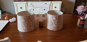 Gold damask lamp shades for Sale in Yelm, WA