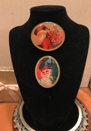 Two Handmade Vintage Santa Claus Broach for Sale in Bristow, VA