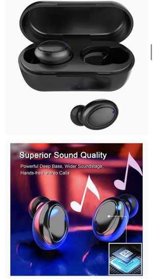 True Wireless Earbuds, Vaupan Bluetooth 5.0 Earphones with Charging Case in-Ear Ear Buds Easy-Pairing IPX5 Waterproof Stereo Calls Pumping Bass Headp for Sale in Burke, VA