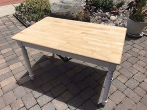 Butcher block style kitchen table seats four for Sale in San Diego, CA