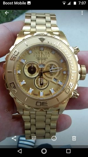 """Men's all goldtone Invicta """"Reserve"""" chronograph watch for Sale in Whittier, CA"""