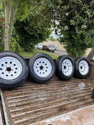 15 inch utility trailer wheels and tires. 205/75D15 for Sale in Hillsboro, OR