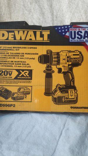 DeWalt hammer drill 5.0 batt $175.00 firm for Sale in Fontana, CA