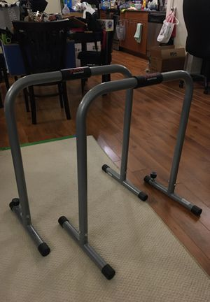 Dip station parallel bar body press exercise for Sale in Richardson, TX