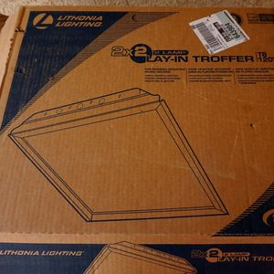 Lithonia Lighting 2x2 Layin Troffer 2 Lamp T8 for Sale in Albuquerque, NM