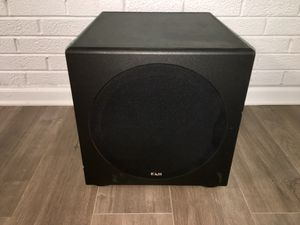 KLH KSUB 10 - POWERED SUBWOOFER SPEAKER, 10 INCH WOOFER 120W pick up Des Plaines IL for Sale in Skokie, IL