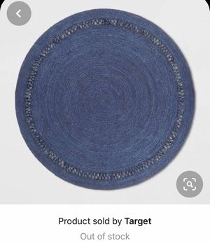Opalhouse 6 foot round Navy braided jute rug for Sale in Nashville, TN