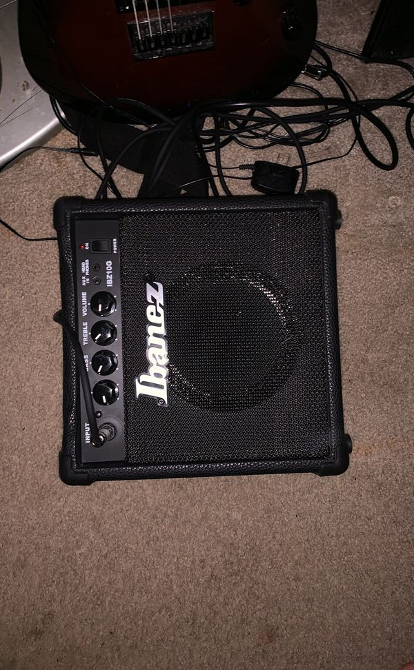Ibanez grg7221 7 string guitar with amplifier