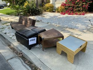 Free - Futon, Storage Ottoman, Table, IKEA Lack end table for Sale in Brentwood, CA