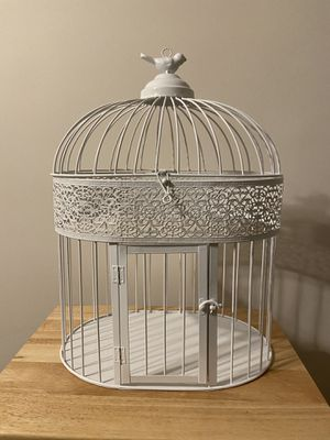White Birdcage Card Holder for Sale in Ambridge, PA