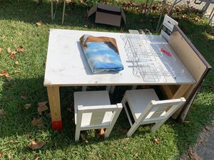 Kids ikea table with 4 chairs for Sale in Portsmouth, VA