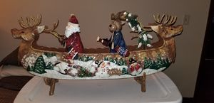 Santa and Reindeer Canoe Decoration for Sale in Arlington Heights, IL