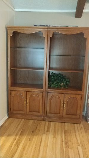 Solid Wood Shelves w/galas adjustable shelf for Sale in Odem, TX