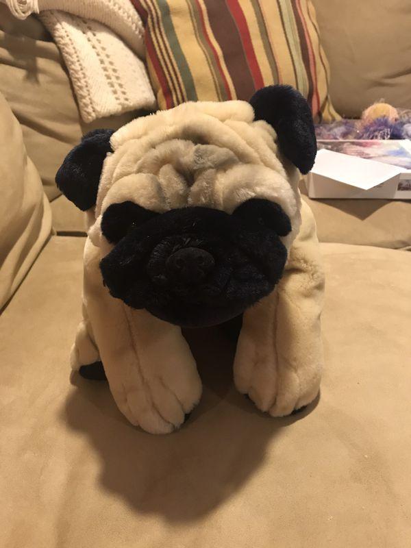 FAO Schwartz Pug Stuffed Animal Plushie