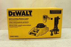 DEWALT 150 ft. Red Self-Leveling Rotary Laser Level with Detector & Clamp, Wall Mount, Remote, Bag, (2) D & (1) 9-Volt battery for Sale in Bakersfield, CA