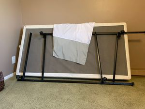 Twin size box spring, bed skirt and bed rail for Sale in Claremont, CA