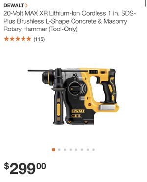 DEWALT 20-Volt MAX XR Lithium-Ion Cordless 1 in. SDS-Plus Brushless L-Shape Concrete & Masonry Rotary Hammer (Tool-Only)no battery no charger for Sale in Miami, FL