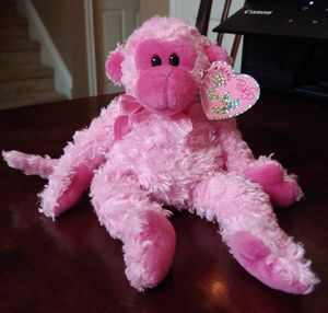 """2004 Ty """"Julep"""" Pink Monkey Beanie Baby for Sale in Kyle, TX"""