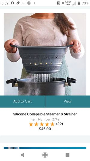 Pampered chef collapsible strainer for Sale in Ruskin, FL