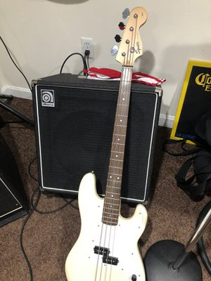 2000 Fender squier bass guitar w/soft case for Sale in Randolph, MA