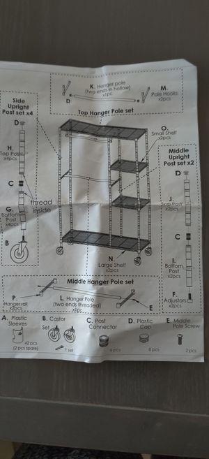 "73"" tall metal storage rack/shelf for Sale in Santa Monica, CA"