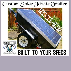 Custom built Solar Power Jobsite trailers for Sale in Apple Valley, CA