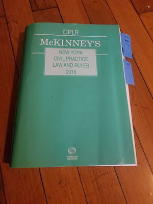 CPLR McKinney's New York Civil Practice Law and Rules 2016 for Sale in Queens, NY