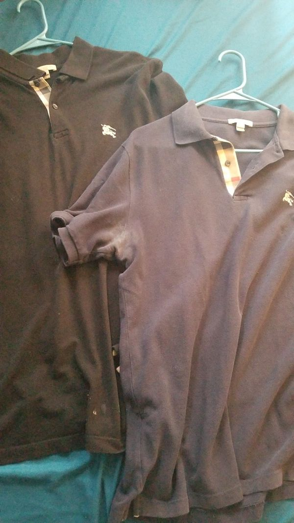 Two Burberry Polos - Size Medium