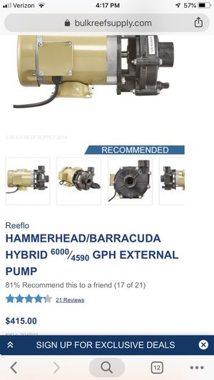 6,000 GPH reef/pond external pump! for Sale in Guadalupe, CA