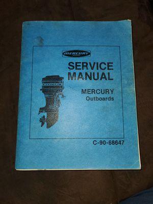 Mercury outboard service manual for Sale in Pueblo West, CO