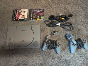 Sony PlayStation PS1 One console with games and 2 controllers for Sale in Walnut Creek, CA