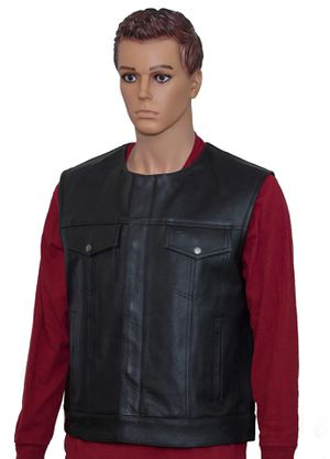 FLASH SALE ONE WEEK ONLY Men's Leather Motorcycle Vest for Sale in Houston, TX