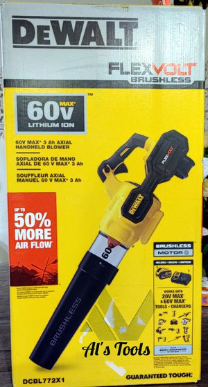 Dewalt flexvolt 60 v blower with 6.0 battery and charger for Sale in Paramount, CA