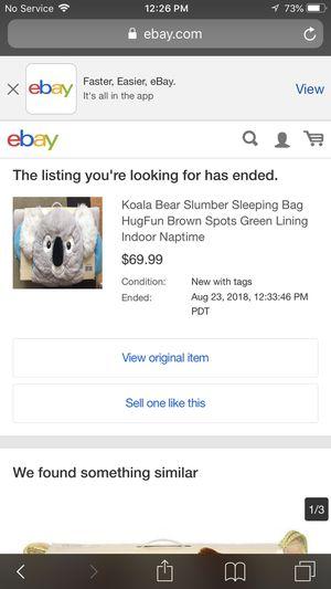Koala sleeping bag for Sale in Fresno, CA