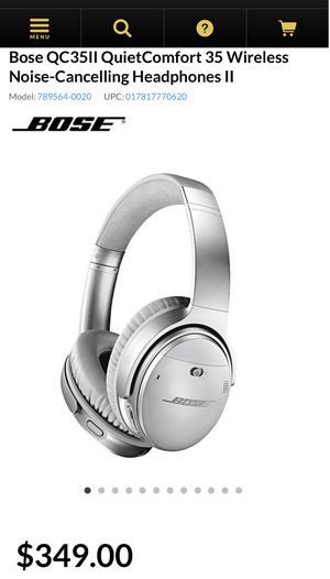 Bose QC35II Wireless Headphones for Sale in Los Angeles, CA