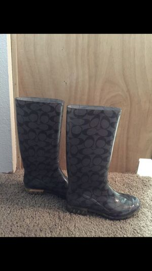 Coach Rain boots size 5 for Sale in Troutdale, OR