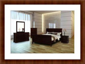 11pc Louis Phillipe bedroom set new mattress for Sale in Rockville, MD