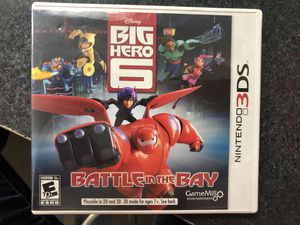 Disney Big Hero 6 Battle in the Bay game for Nintendo 3Ds for Sale in Griswold, CT