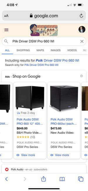 "Polk Audio DSW Pro 660 Subwoofer - ""DRIVER ONLY"" New in box for Sale in Huntington Beach, CA"